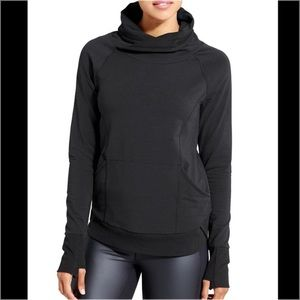 Athleta French Terry Track Pullover Sweatshirt Top